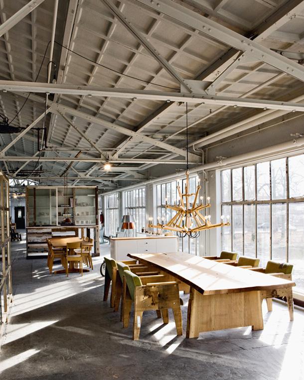 kitchen tables art van work piet hein eek laboratory + workshop in eindhoven ...