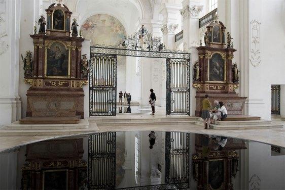 La Mise en Abîme Installation by Romain Crelier at Abbey-church of Bellelay, Switzerland | Yellowtrace.