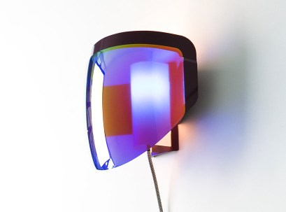 'JBF 01 optical blue' wall lamp by Jean-Baptiste Fastrez for Moustache | Yellowtrace.