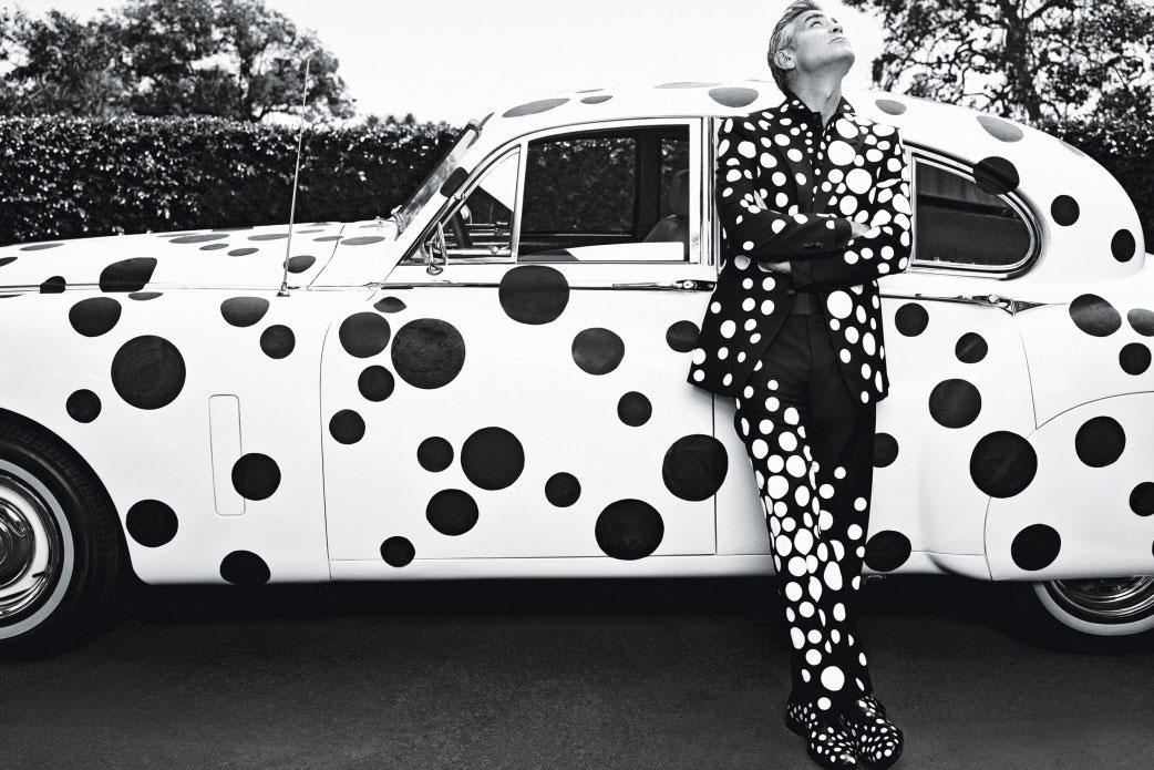 George Clooney x Yayoi Kusama for W Magazine   Yellowtrace