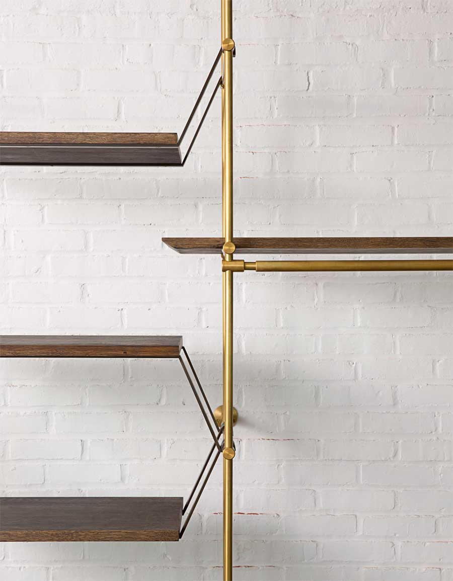 Image result for amuneal brass shelving