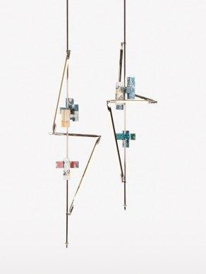 Sculptural Geometric Lighting by Bec Brittain & Hilda Hellström | Yellowtrace