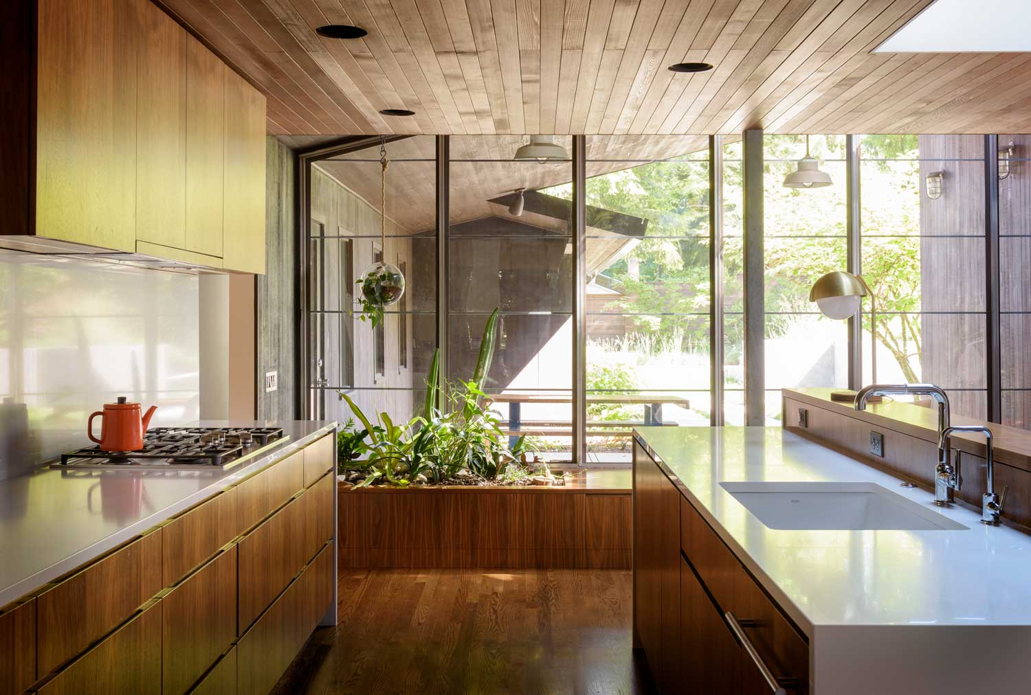 1950 s portland house remodel by jessica helgerson - Yellow interior house design photos ...
