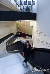 Dana Tomic Hughes at MAXXI Museum Rome by Zaha Hadid. Photo by Nick Hughes | Yellowtrace