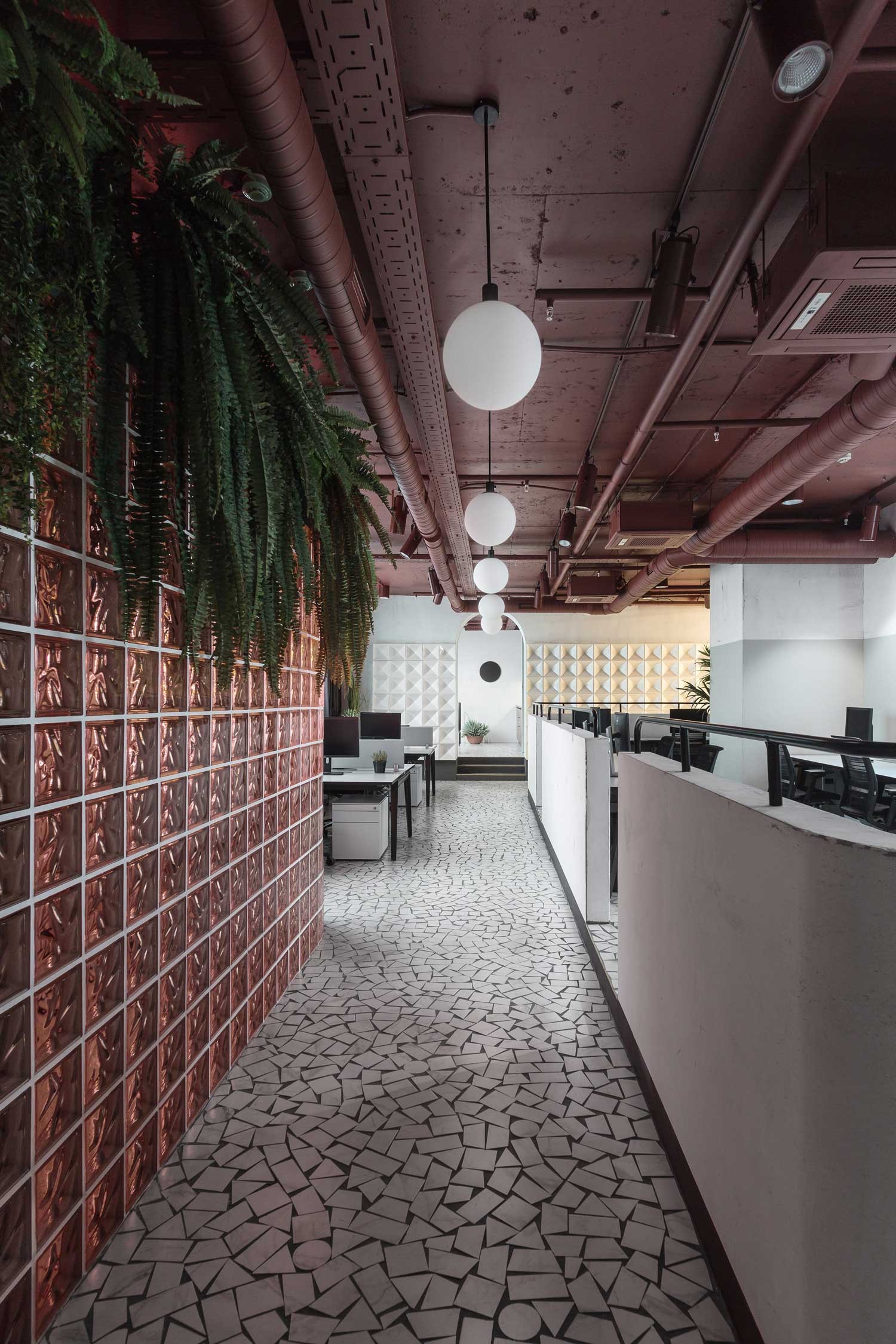 Vizor gaming company hq by studio11 in minsk belarus for Floor finishes definition