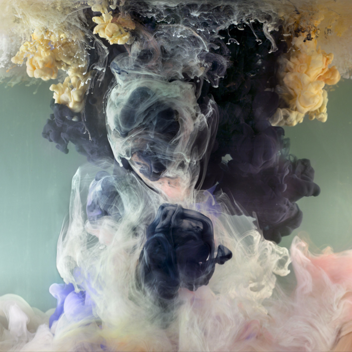 Kim Keever's Mesmerising Art Made by Squeezing Paint into ...