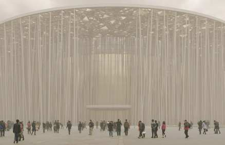 Wuxi Taihu Show Bamboo Theatre in China by Steven Chilton Architects | Yellowtrace