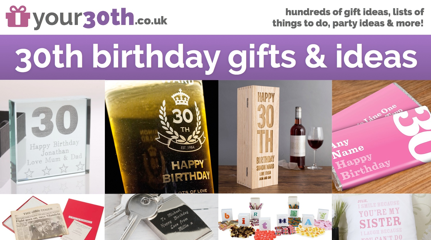 30th Birthday Gifts  Ideas  30th Parties  Presents  Your 30th