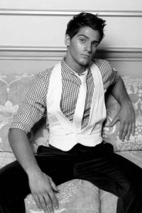 Men's Black Formal Pants, Striped Shirts, White Ties ...