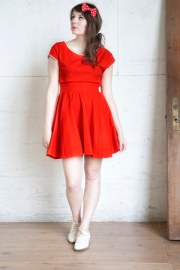 red modcloth dresses white