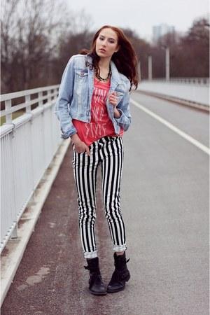 White Striped HM Pants Black Punk HM Pants Black