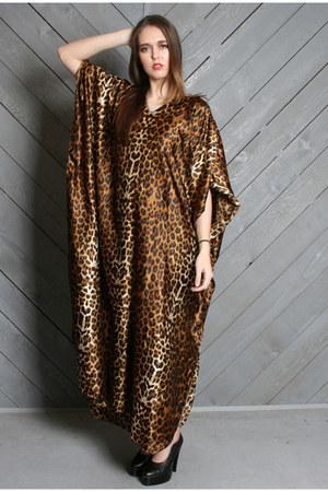 LUCKY VINTAGE Dresses  Vintage Shimmery Leopard Caftan