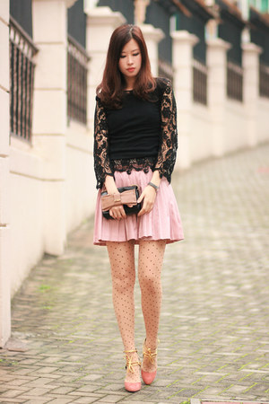 Black Global Citizen Tops Pink Chloe Bags Light Pink