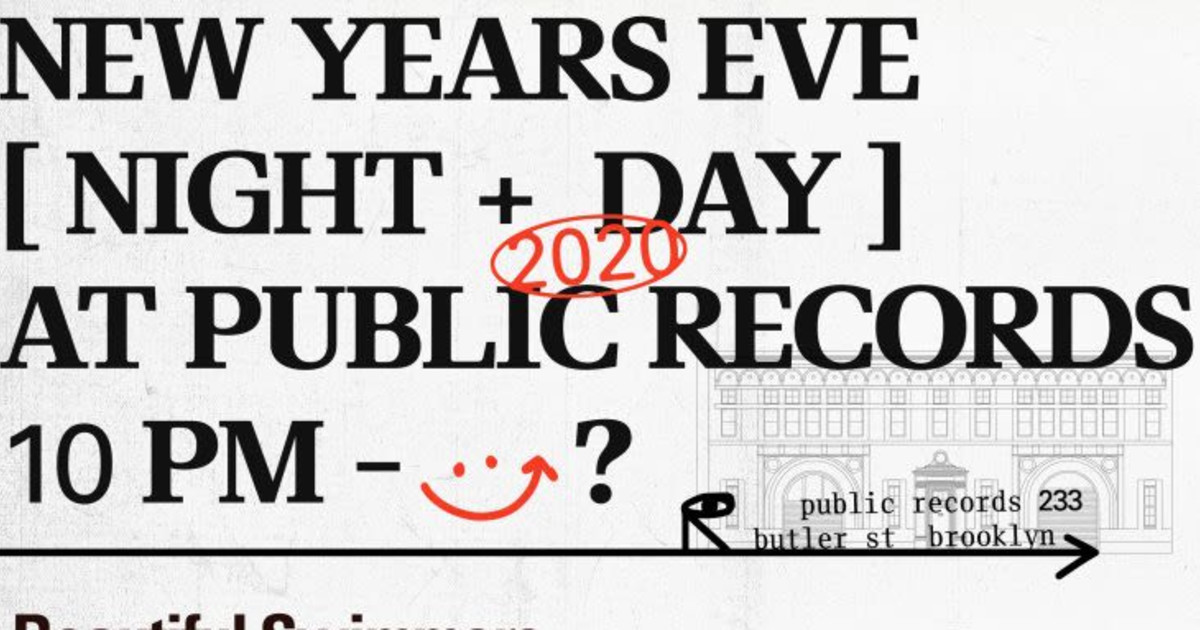 New Years in Brookyln at Public Records