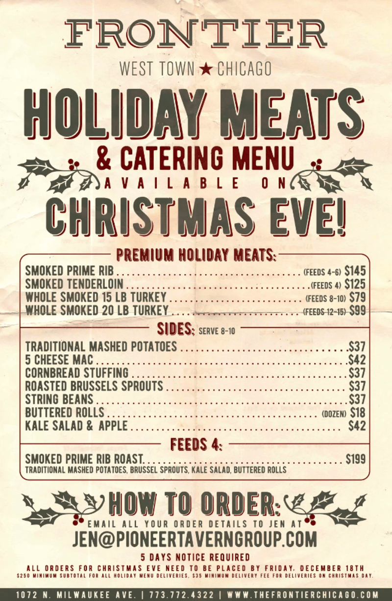 Christmas Eve Prime Rib Menu : christmas, prime, Holiday, Meats, Catering, Available, Christmas