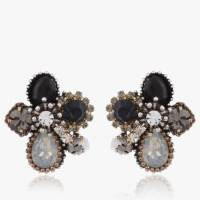 Buy Grey Black Stone Stud Earrings Online