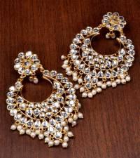 Buy Kundan Embellished Dangler Earrings 217ED82 Online