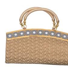 Buy Gorgeous Golden Brocate Clutch clutch online
