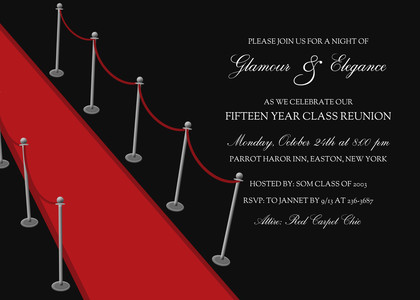 Party Invitations Red Carpet By Mixbook