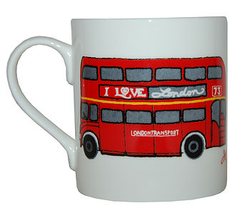 I  love london high red bus