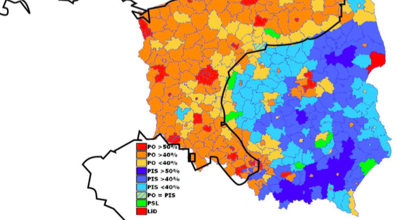 Polish Election Map Reveals Old Imperial Border Big Think