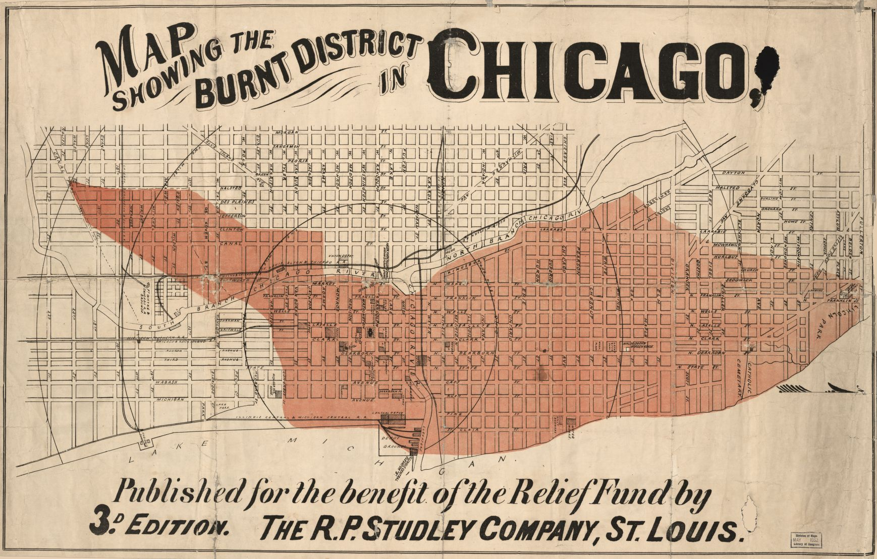 Great Chicago Fire Map