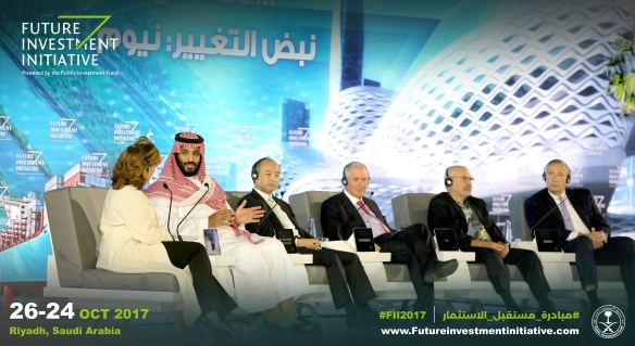 Panelists discussing the future of Neom