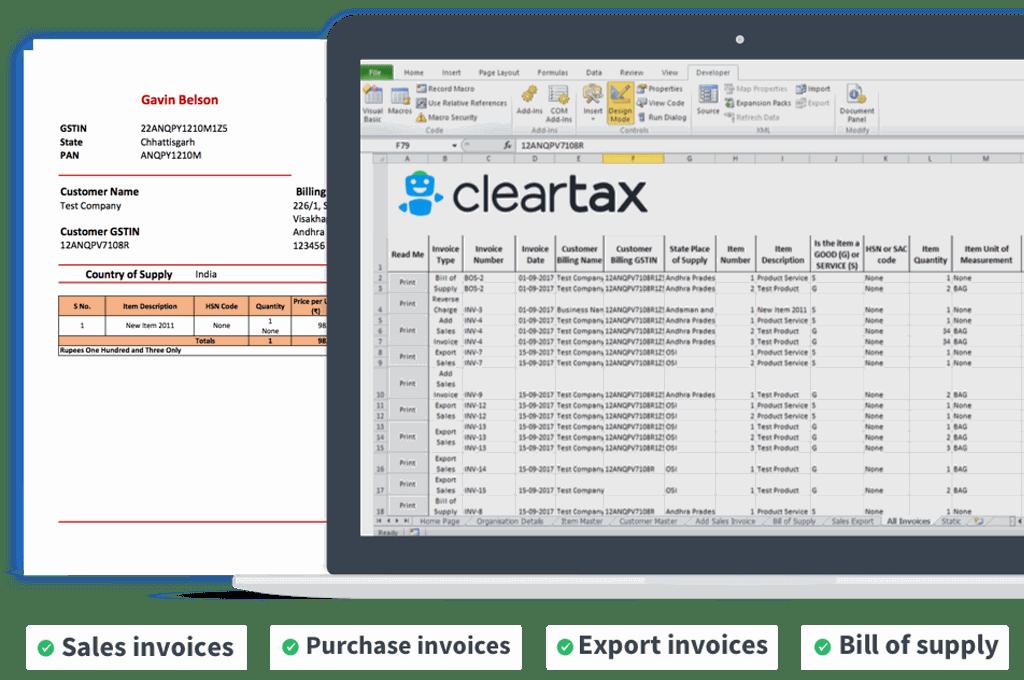 GST Excel Invoicing - Download Offline GST Excel Sheet Billing Software