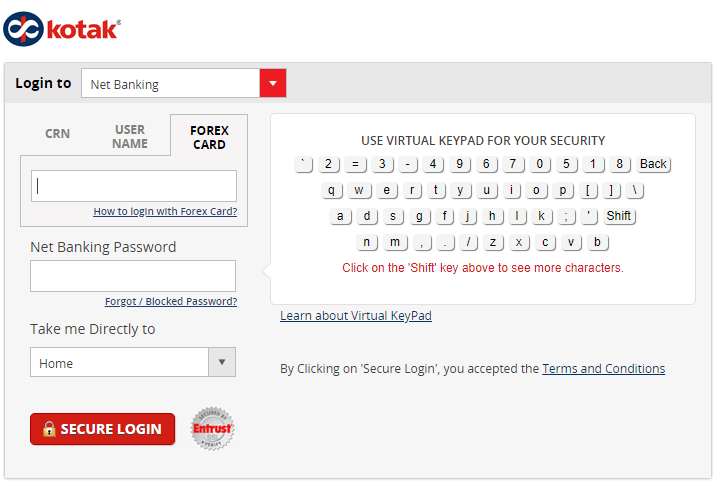 Kotak Netbanking How To Register Transaction Limits Transfer Funds Online Pay Credit Card Bill