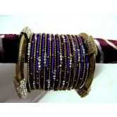 violet-party-wear-silk-thread-metal-bangles