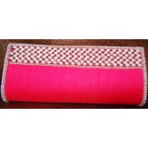 Hot pink with AD Border Clutch