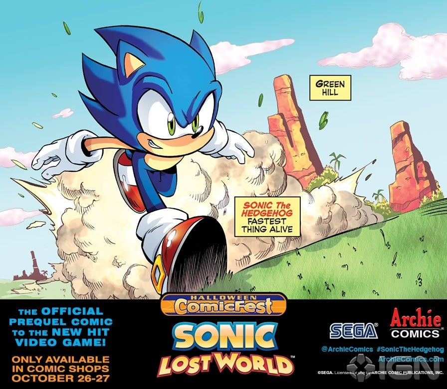 Archie Delivers Sonic Lost World Prequel  IGN