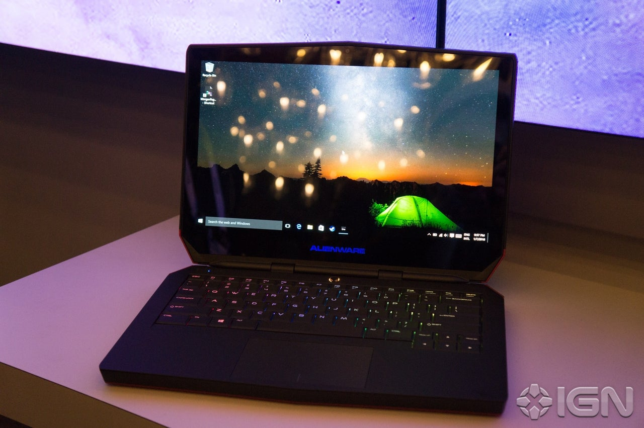 CES 2016 Alienware Unveils Worlds First OLED Gaming Laptop IGN