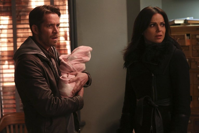 Sean Maguire, Lana Parrilla on Once Upon a Time