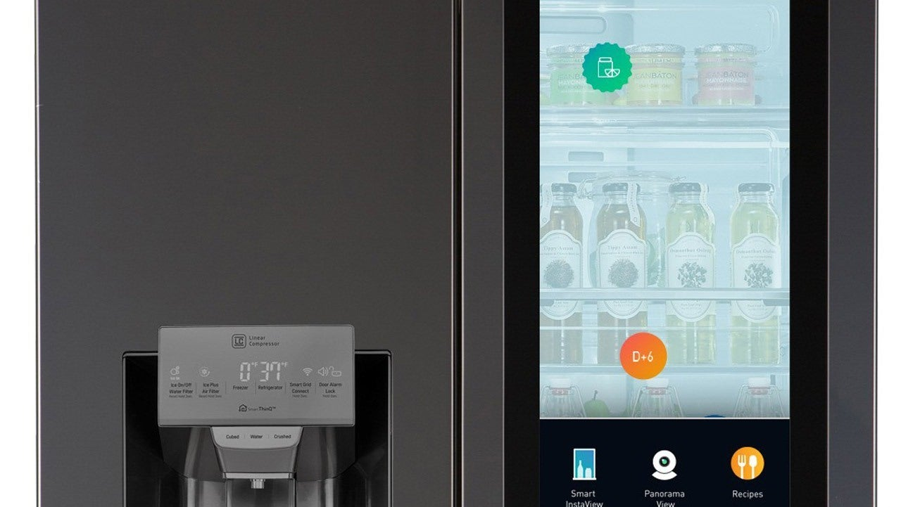 CES 2017 This New LG Fridge Features A Touch Screen And Alexa Support IGN