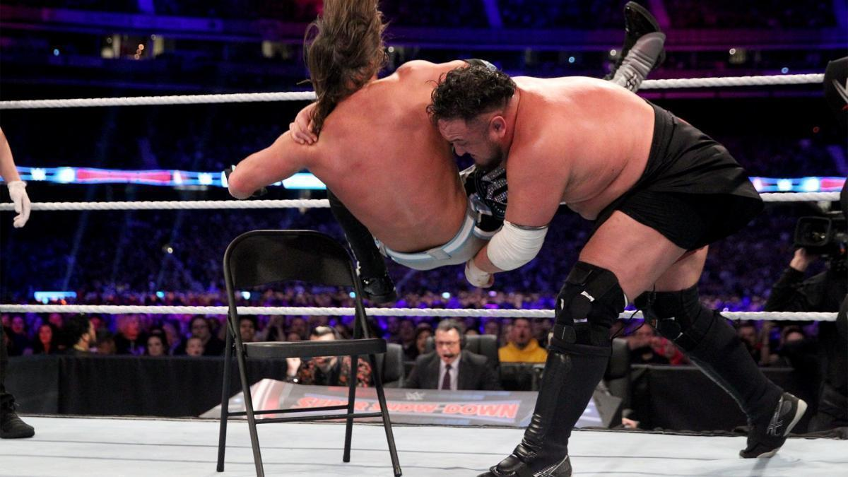 what are wwe chairs made of boppy baby chair tables ladders and 2018 match results reaction ign 01 11