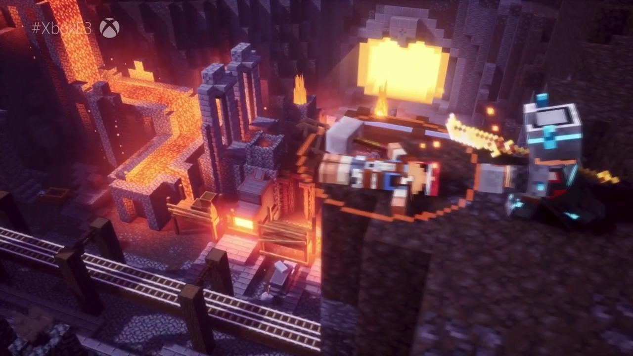 Minecraft Dungeons Release Window Announced E3 2019 Ign