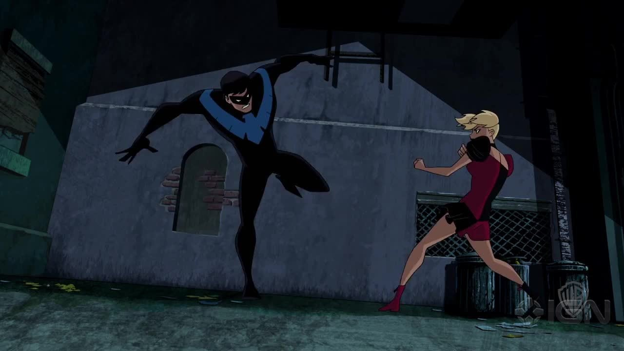 Batman And Harley Quinn Nightwing And Harley Fight
