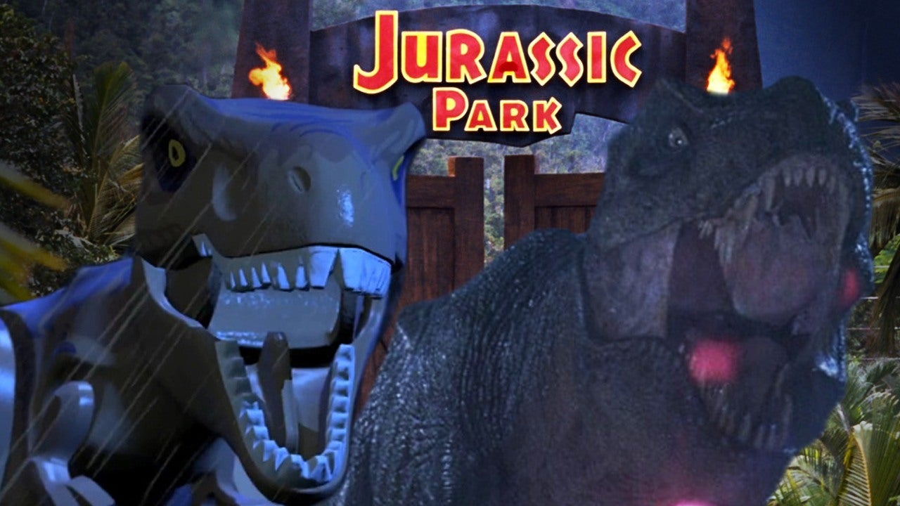 LEGO Jurassic World Vs The Jurassic Park Movies Side By Side Comparison IGN Video