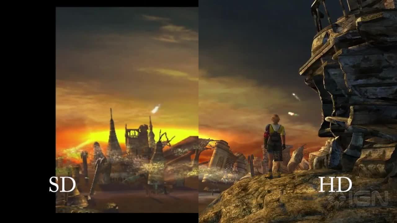 Final Fantasy X X 2 HD Remaster SD Vs HD Comparison IGN Video