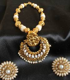 Buy GORGEOUS ROYAL HUGE RAM LEELA PENDANT PEARL NECKLACE SET necklace-set online