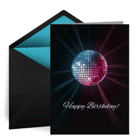 Birthday Disco Ball Free Birthday Card For Her Happy