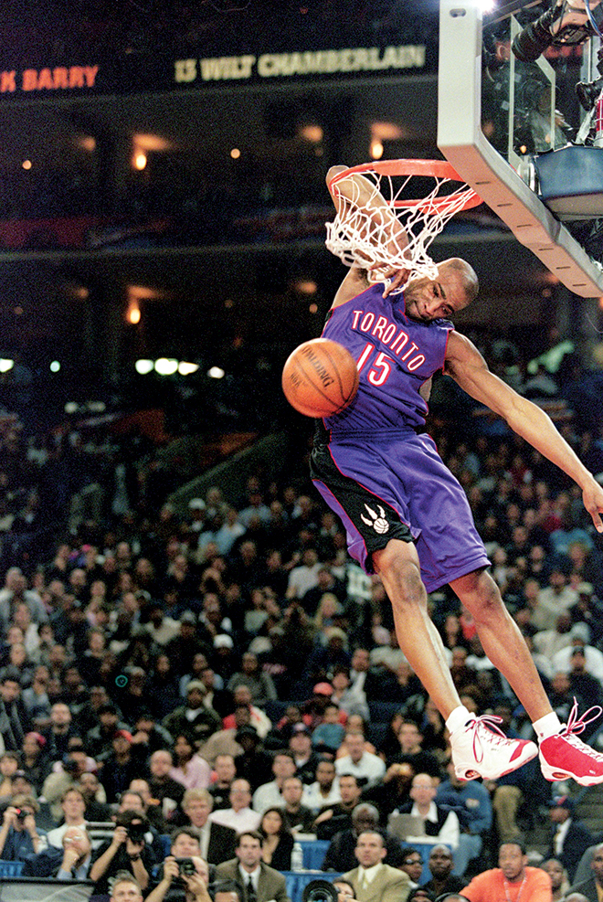 Image result for vince carter dunking forearm