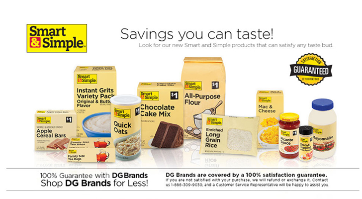 Dollar General Redesigns Smart & Simple Brand Packaging