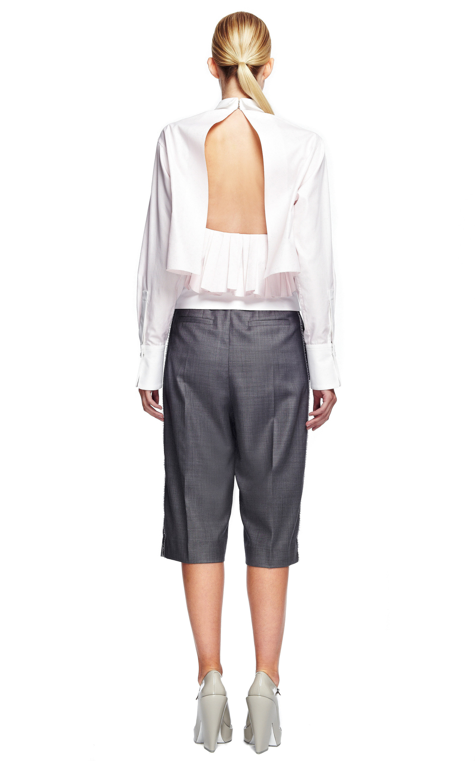 Shirt with Pleated Skirt
