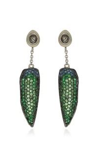 Scarab Wing Earrings by Bibi van der Velden | Moda Operandi