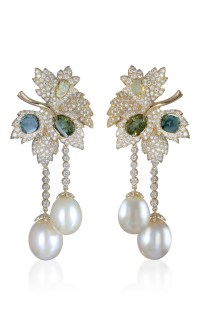 Pearl And Diamond Earrings by Farah Khan Fine Jewelry ...