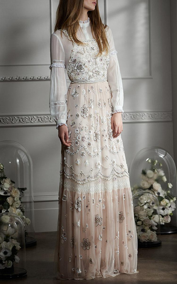 Embellished Bib Gown by Needle  Thread  Moda Operandi