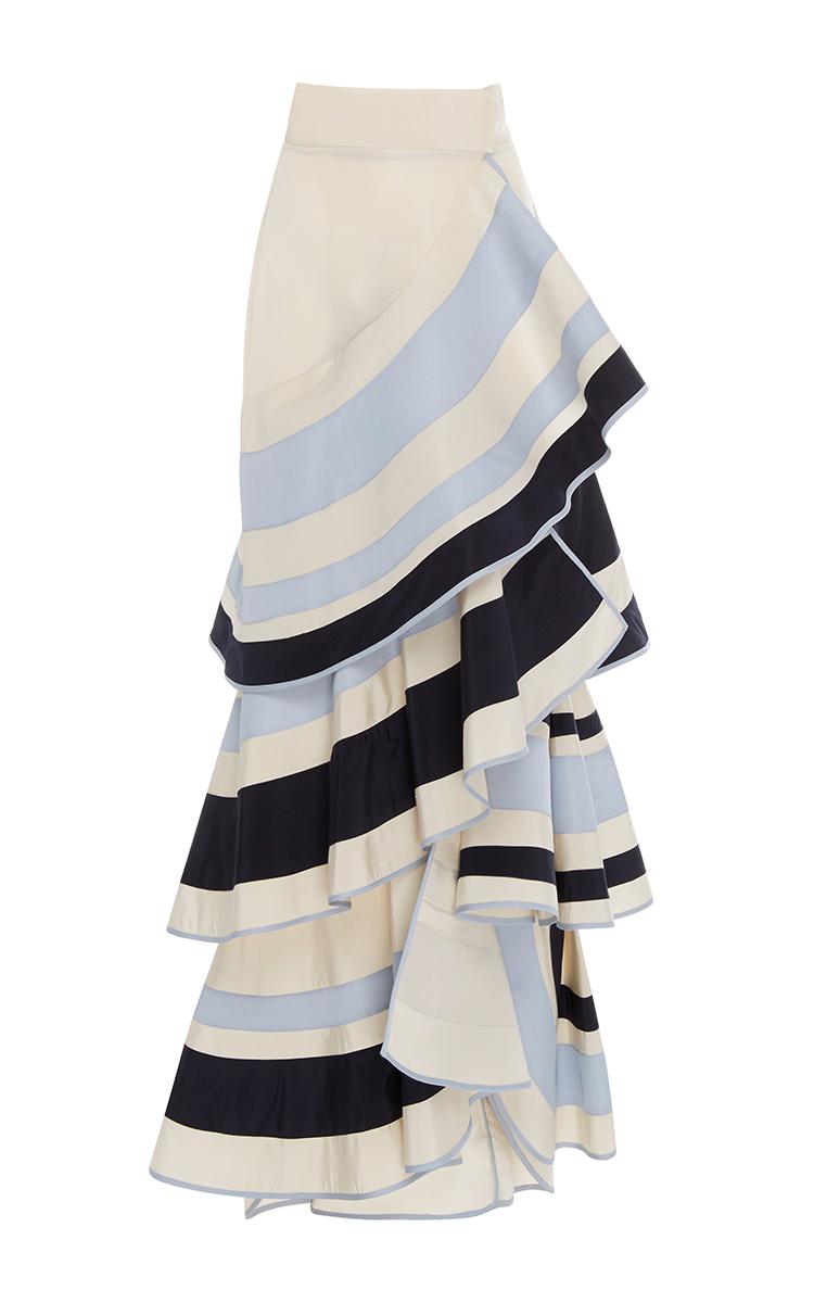 Lombard Street Tiered Ruffle Skirt by Johanna Ortiz  Moda