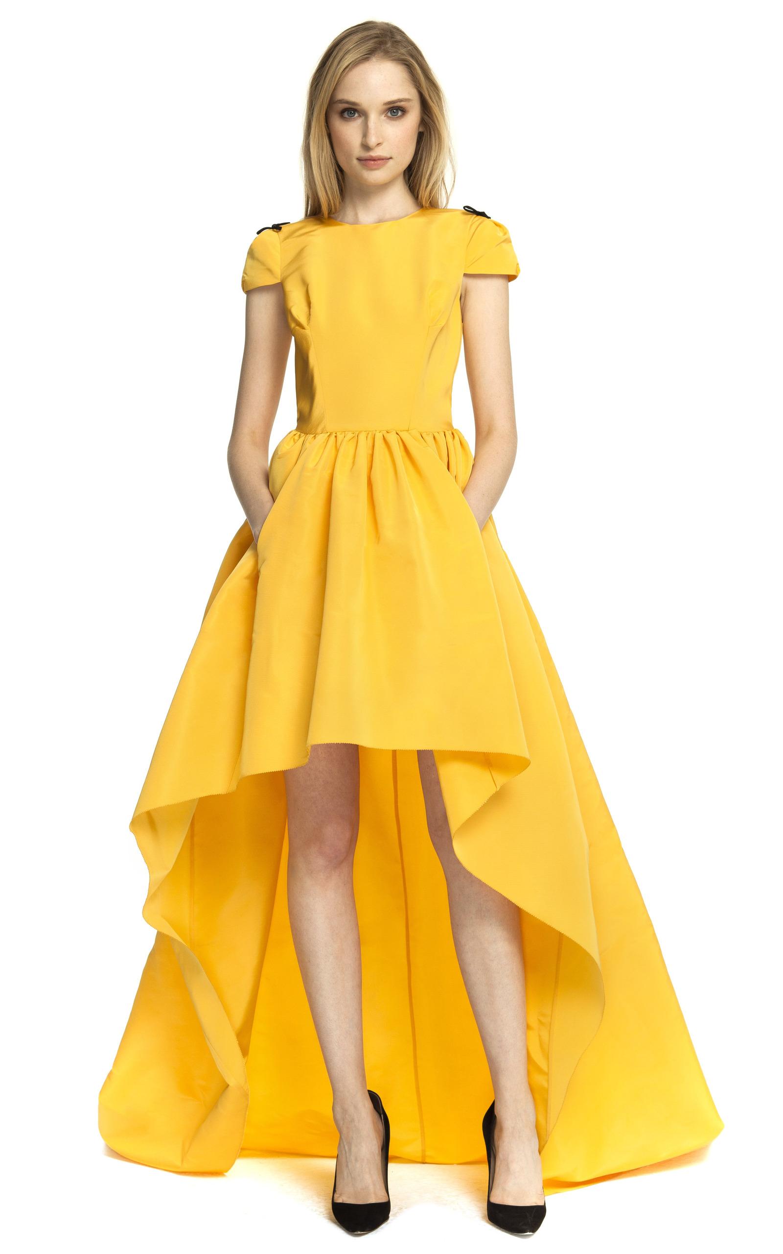 Katie Ermilio Yellow Dress